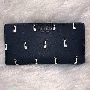 Kate Spade Large Slim Bifold Penguin Wallet